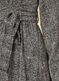 Knit&Co Kemerli Desenli Midi Elbise Siyah